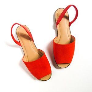 LOFT Slingback Sandals Red NWOT